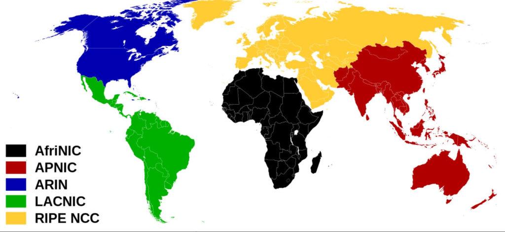 Карта icann