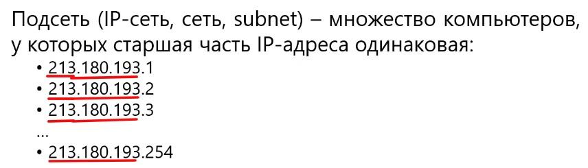 Октет в ip