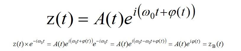 аналитический сигнала через комплексную экспоненту