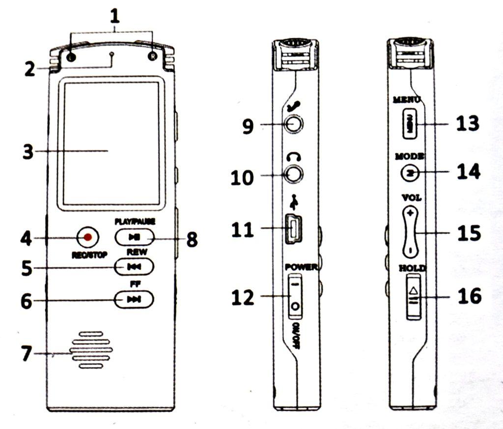 Цифровой Диктофон Т60