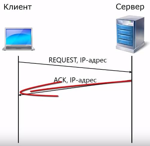 сообщение DHCP ACK