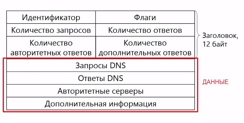 Формат пакета DNS
