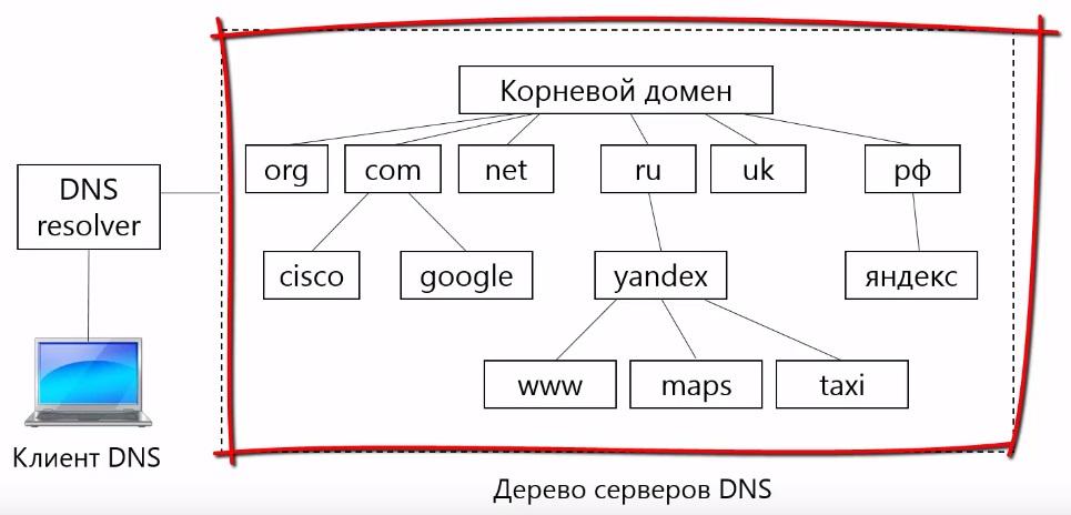 DNS серверы, которые хранят информацию об отображении доменных имен в ip-адресах