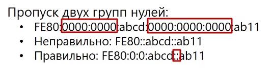 Пропуск двух групп нулей ipv6