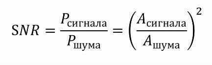 формула сигнал шум